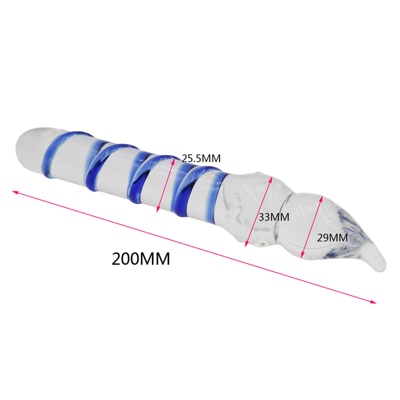 New Long Huge Pyrex Glass Dildos Sex Toys For Women, Glass -3518