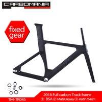 2020 new full carbon track frame BSA single speed Carbon Track Bike Frame 49/51/54CM 700c stiff frames fixed gear bike frameset