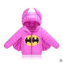 Kids boys&girls jacket winter coat warm down cotton jacket batman for baby outwear coat Christmas baby clothes kids costume