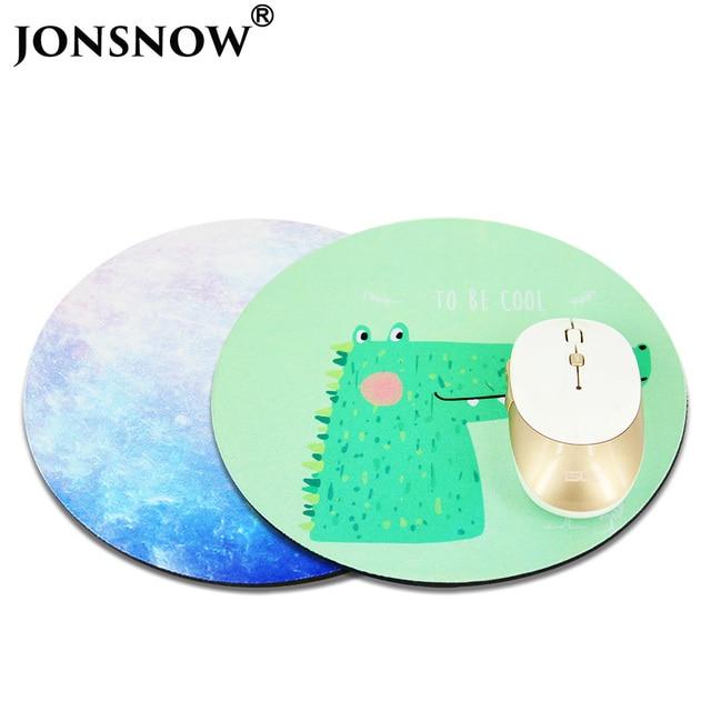 jonsnow circular mouse pad anti slip computer notebook laptop pc