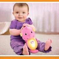 الموسيقى والضوء الطفل استرضاء رفيقا الهدوء دمية أفخم لعب لطيف الحيوانات التنموية kidstoy هدية للطفل speelgoed mordedor