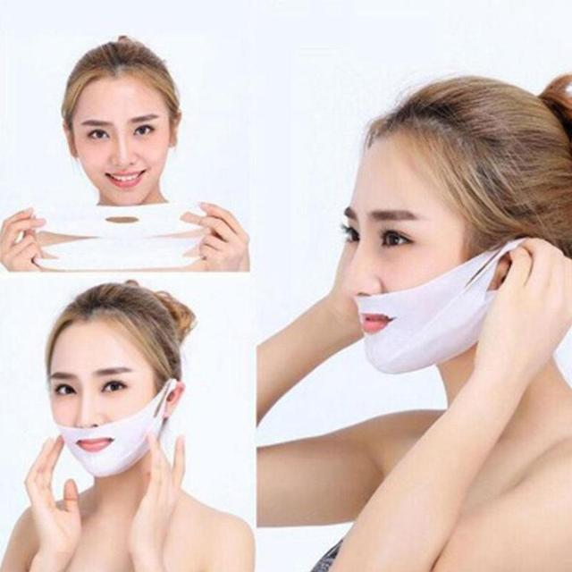 Miracle V-Shaped Lifting Facial Masks Neck Mask Eliminate Edema Firming Thin Slimming Bandage Peel-off Mask Skin Care 1