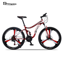 Sheng milo mountain bike 26 -inch steel 21 -speed bicycles dual disc brake variable speed street bikes racing bike cheap Unisex Aluminum