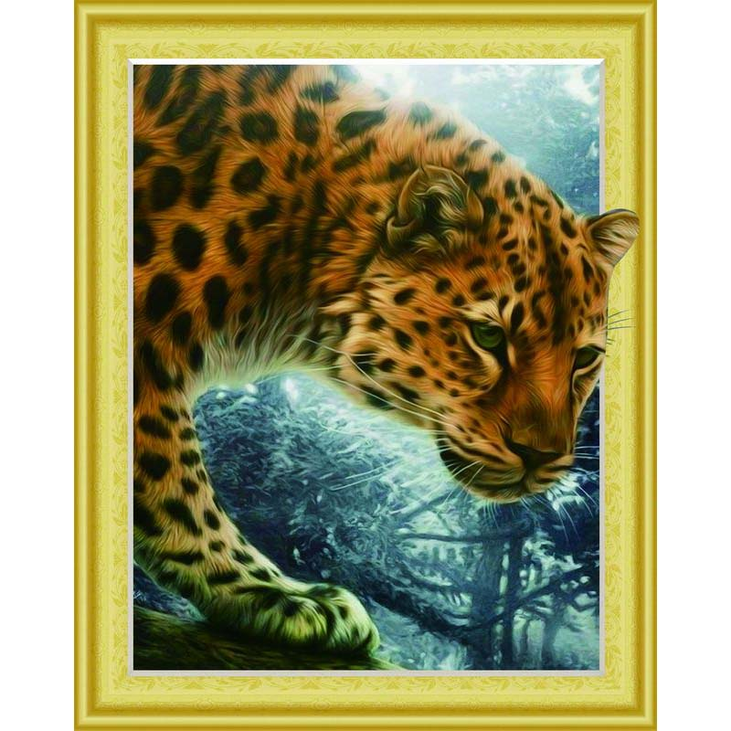 DIY 5D Diamond Painting Leopard Diamond Cross stitch Thorn To Draw Needlework Diamond Embroidery Sewing Art Crafts Gifts