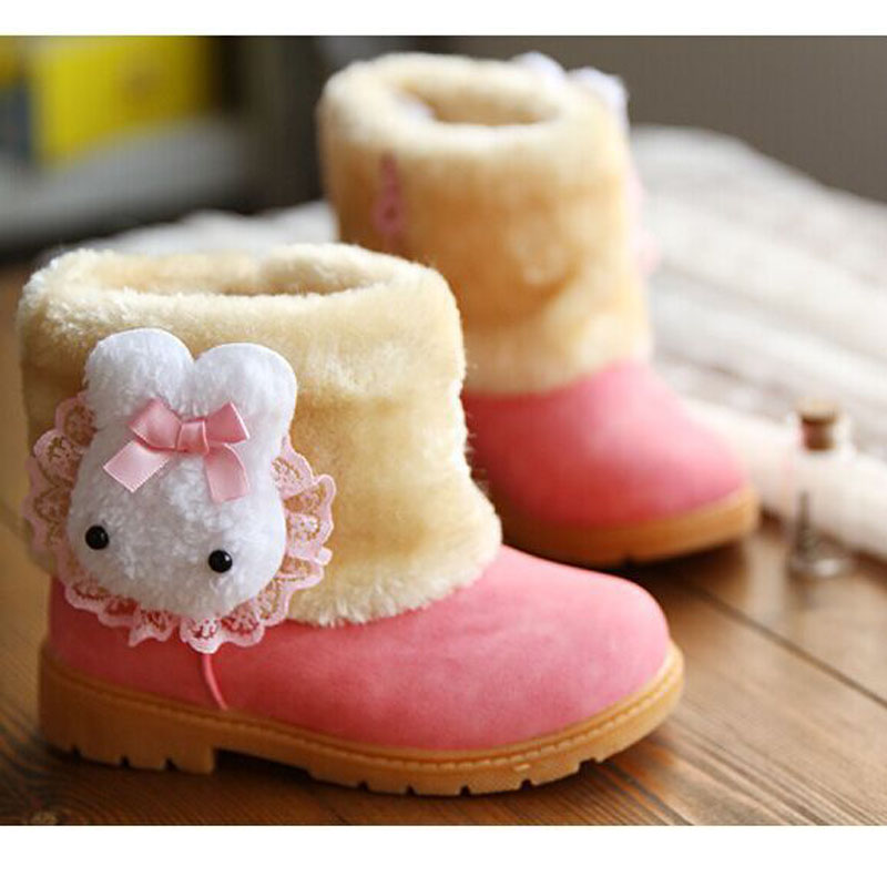 Winter-Childrens-Warm-Snow-Boots-Girls-Rabbit-PU-Leather-Platform-Winter-Boots-Princess-Short-boots-Kids-Winter-shoes-3