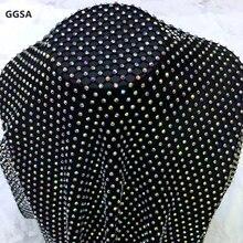 Новые эластичные стразы, сетчатая отделка, черно-белая ткань, шитье для костюма, обуви, сумок, DIY SS16 4 мм, прозрачный AB Кристалл, окантовка