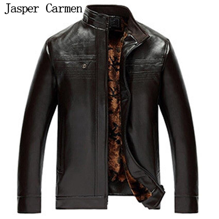 Winter Leather Jackets Men Faux Fur Coats Long Casual ...