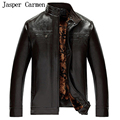 Winter Leather Jackets Men Faux Fur Coats Long Casual Sashes Leather jacket Thicken Outwear Overcoat For Man 47hfx