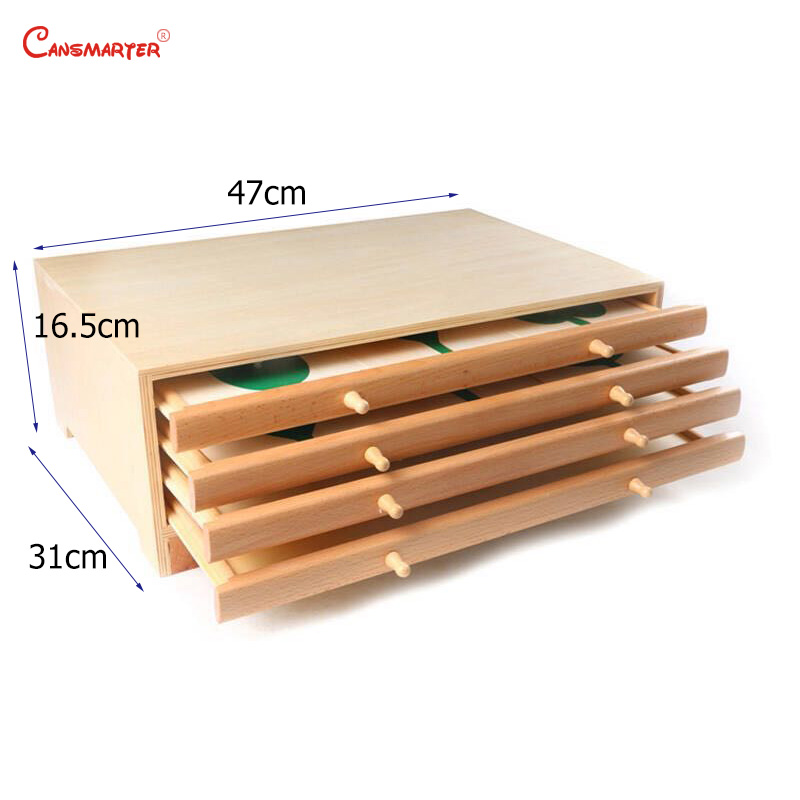 Botany Leaf Cabinet Puzzles Wooden Box Montessori Biological Teaching Toys Education Early Kids Preschool Materials - 4