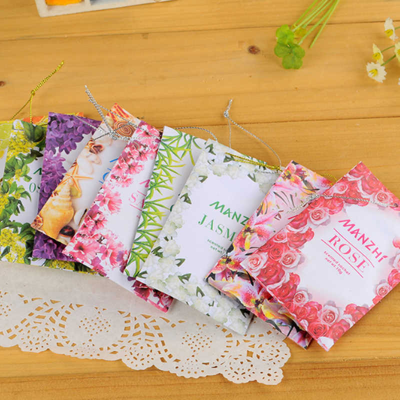Lily Osmanthus 1PC Aromatherapy Wardrobe Sachet Refreshing Scent Bag Natural Smell Incense Air Fresh 9 Kinds Smell