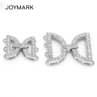 3 And 4 Rows Multi Strand Micro Pave CZ Stone Zircon 925 Sterling Silver Connectors Clasps For Necklace Bracelet Making SC CZ012