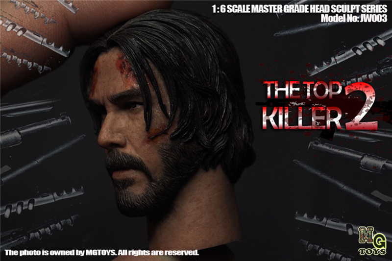 "MGTOYS 1//6 The Killer John Wick Head Sculpt Keanu Reeves Male Head F 12/"" Figure"