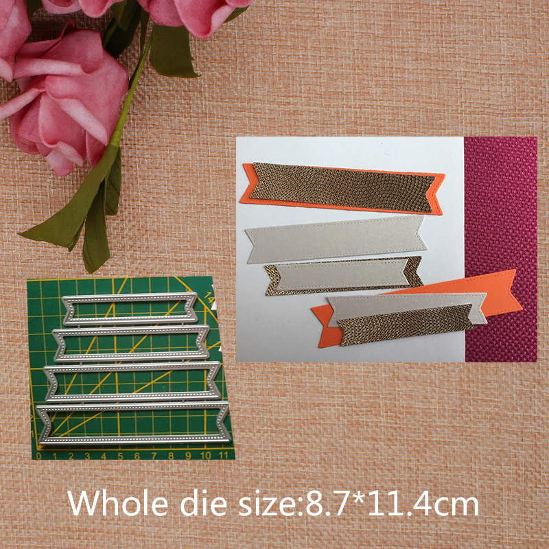 Simple Strip Metal Cutting Dies for craft Scrapbooking Stamps DIY Card making Metal Cutting Dies New 2019 8 7 11 4cm in Cutting Dies from Home Garden
