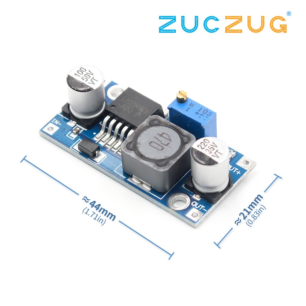 1Pcs Lm2596 LM2596S DC-DC 3-40V Adjustable Step-down Power Supply Module Voltage Regulator 3A