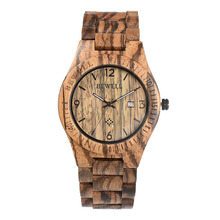 2016 BEWELL Men's Fashion Casual Quartz Watch Men Wooden Strap Quartz-watch Ultra-thin Case Relogio Masculino black friday 086B