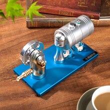 Вся металлическая Звездная модель с паровым двигателем двигатель ретро с нагревателем котел спиртовой лампы K-005 основание из алюминиевого сплава