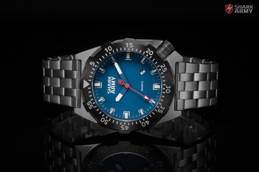 Shark Army Top Brand Man Watch Luminous 10ATM Water Resistant Blue Surfing Military Full Steel Quartz Sport Wristwatches /SAW188 13