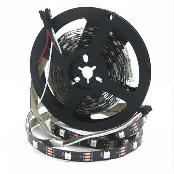 DC5V WS2812 Built-in IC WS2812B LED Strip light RGB 5050 Full color 30/60/144 Pixel individually Addressable Programmable tape