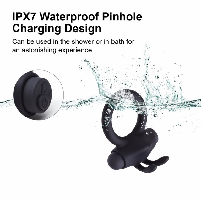 Aipapii Vibrating Cock Ring with Remote Control IPX7 Waterproof