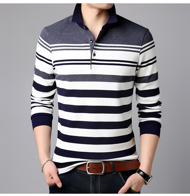 Design Men   Polo   Shirt 2019 New Summer Business Casual Breathable Striped Short Sleeve Shirt Clothes