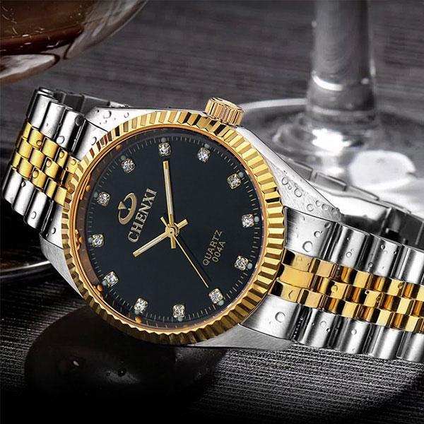 2017 CHENXI Gold Watch Men Clock Golden Mens Watches Top Brand Luxury Famous Wrist Quartz Watch Male Hodinky Relogio Masculino chenxi wristwatches gold watch men watches top brand luxury famous male clock golden steel wrist quartz watch relogio masculino