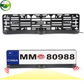 Russia EU Universal License Plate Frame Two Parking Sensors Car Backup Reverse Radar With HD CCD Night Vision Rear Camera