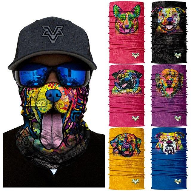 3d Seamless Headband Animal Style Neck Buffs Face Shield Headscarf