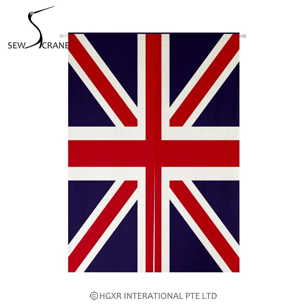 SewCrane UK Flag Union Jack Home Restaurant Door Curtain Noren Doorway Room Divider