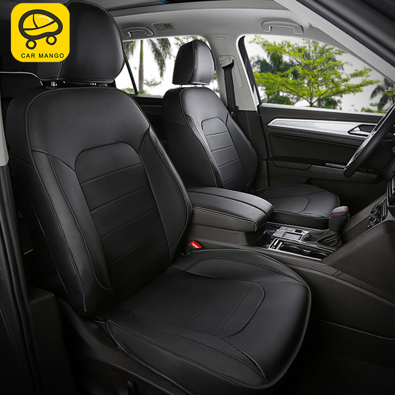 CARMANGO For Volkswagen Atlas 2017 2018 Car-styling Car Seat Covers Interior Accessories Stickers