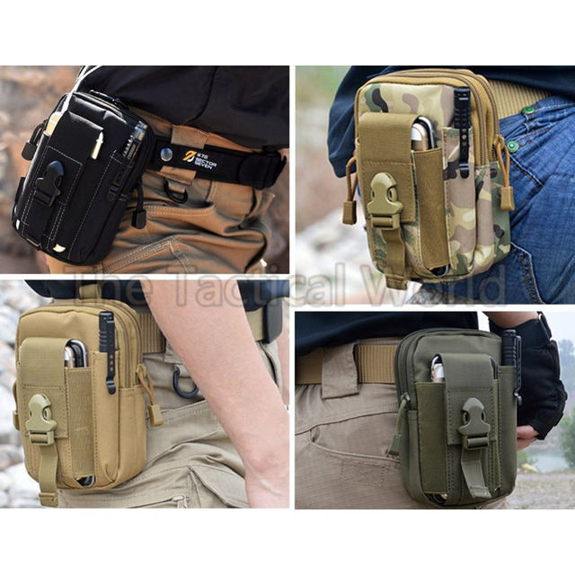 Outdoor Tactical Phone Pouch Holster Airsoft Molle Hip