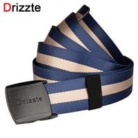 Drizzte Mens Big Alto Nylon Web Cintura 120-180 cm Tactical YKK POM Fibbia in plastica da 47 a 71 pollici Duty Belt Plus Size Navy Blu banda
