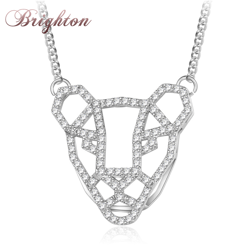Brighton women choker necklace luxury tiger shaped crystal aaa brighton women choker necklace luxury tiger shaped crystal aaa zircon white cold color chain pendants parent child necklace in pendant necklaces from aloadofball Gallery