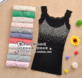 New Spring Summer All-match Rhinestone Sequin Lace Tanks Tops Women's Basic Camis Sling Camisole Cami Sleeveless Shirt Vest Slim