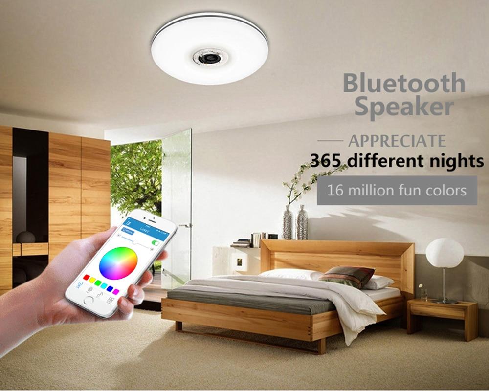 Mumeng LED Deckenleuchte 32 Watt wohnzimmer Musik Lampe Bluetooth ...