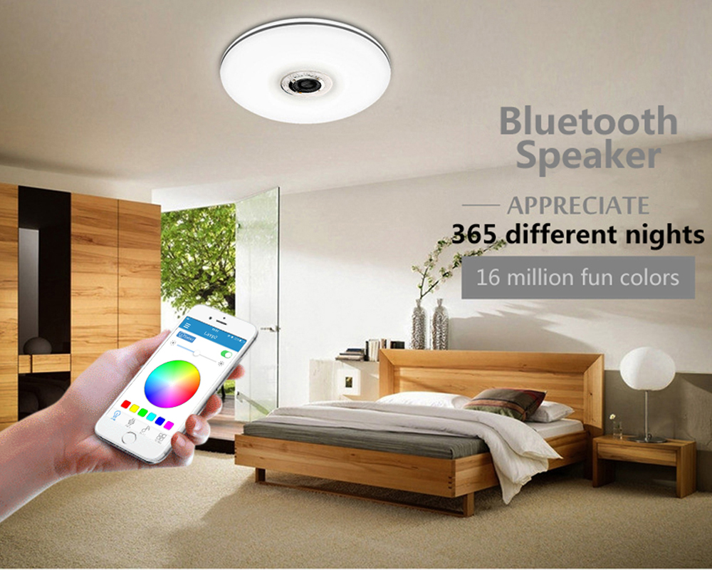mumeng LED Ceiling Light 32W Living room Music Lamp Bluetooth Speaker Lampara Colorful dimmable Party Art Decoration Lighting 2017 multi function starting device 12v car jump starter portable power bank charger car battery booster buster petrol diesel