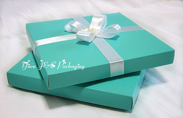 New 50pcs 15.5 X 15.5cm Square 2PC Blue Party Invitation Boxes,Party Box,