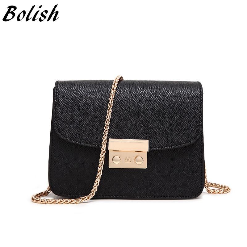 Bolish Fashion Lock Női táskák Bőr kézitáskák Lánc Női - Kézitáskák