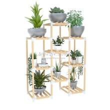 Многослойный деревянный стеллаж для хранения, полка растения на балконе, Цветочная витрина, напольные полки, подставка для растений, подставка для цветов в горшках