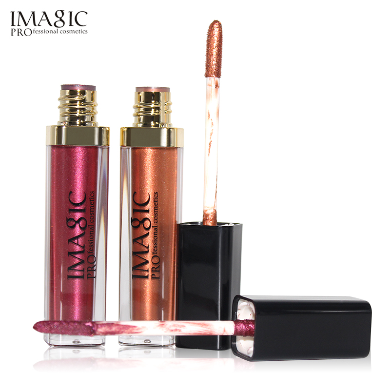 IMAGIC lip kit Rare Lip Paint 1pcs Lipliner+1pcs lip gloss  matte lipstick Waterproof Strawberry Long Lasting Gloss FB lip gloss