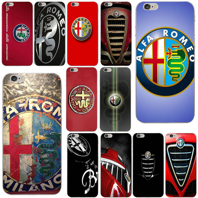 wholesale dealer 78493 5d770 US $1.99  Aliexpress.com : Buy Hot Super Car Alfa Romeo Logo Soft TPU  Silicone Cell Phone Case for iphone 6 6s Plus 7 8 Plus X 5 5S 5C SE 4 4S  Capa ...