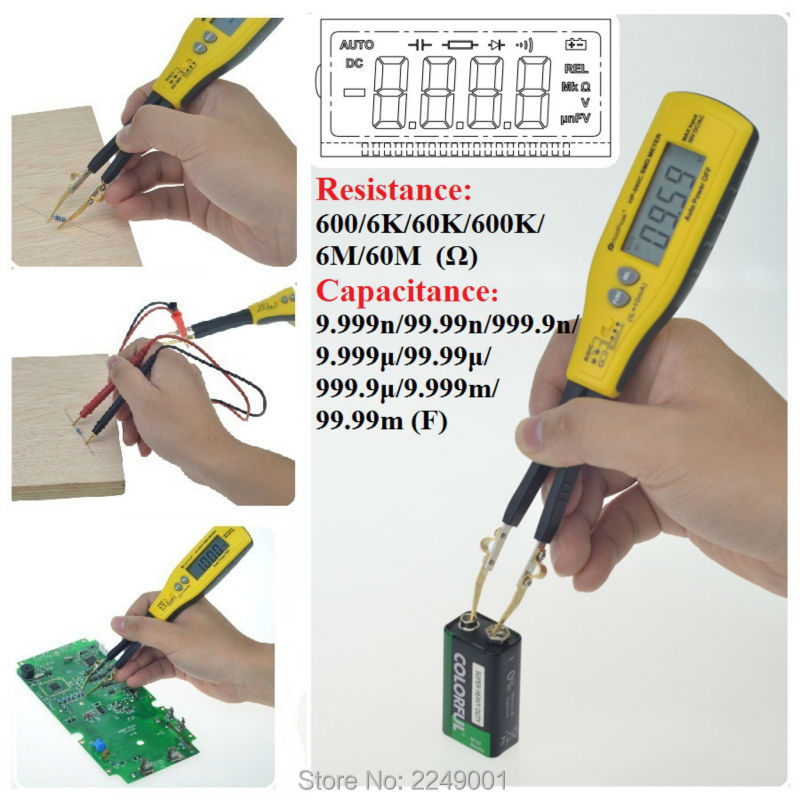 HoldPeak HP-990C Digital SMD Tester Capacitance Meter Resistance Meter Diode/Battery Test with Carry Box