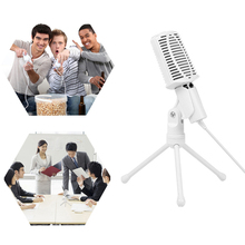 Popular Karaoke Microphone Professional Stereo Microphone Podcast Studio 3.5mm 360 Rotation Mic Tripod For Skype PC Notebook