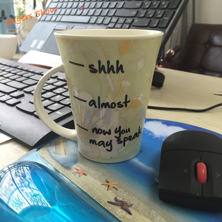 Removable Funny stickers For Coffee Cup ,Creative Vinyl Decals Office Coffee Cup Decoration , Mug Not Included