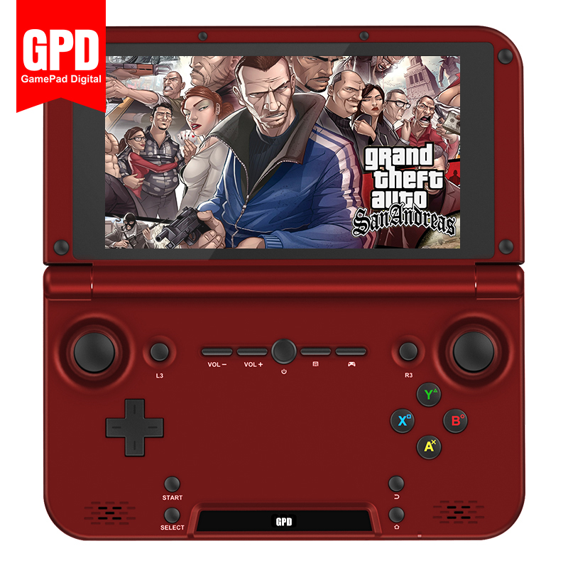GPD XD RK3288 Quad Core 2G/64G 5 H-IPS Screen Linux Mini Laptop Handheld Game Player Video Game Console (Red)