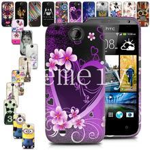 На складе Матовый Матовый Глянцевый Печатных ТПУ Мягкий Гель Резина Телефон чехол Для HTC Desire 310 Задняя Крышка силиконовый чехол С Подарком