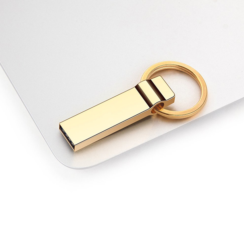 5pcs U90 Golden U-Disk USB 3.0 Flash Drive Portable Metal Memory Stick Key Ring Flash Disk Pendrive For Computer 16GB