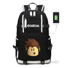 WISHOT Roblox game multifunction USB charging backpack for Kids Boys Children teenagers Men  School Bags travel Laptop Bags