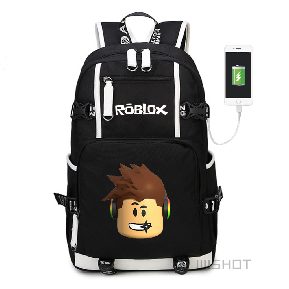 WISHOT Roblox game multifunction USB charging backpack for Kids Boys Children teenagers Men  School Bags travel Laptop Bags