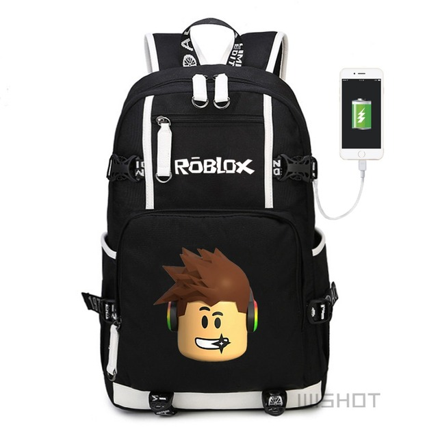 WISHOT Roblox game multifunction USB charging backpack for Kids Boys  Children teenagers Men School Bags travel Laptop Bags 90048d24f7e78