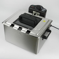 5L Electric Deep Fryer Commercial/Household Electric Deep Frying Machine Stainless Steel Frying Cooker WJ 801